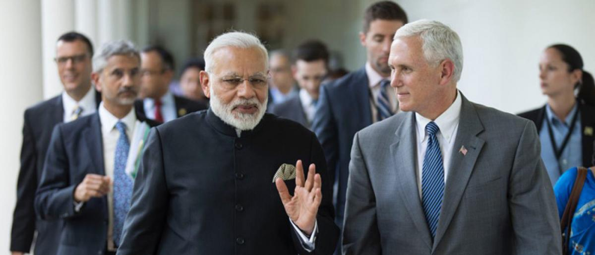 All terror probes lead to one source: Modi to Pence