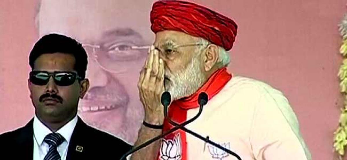 PM Modi rakes up Indira Gandhis Morbi visit to attack Congress