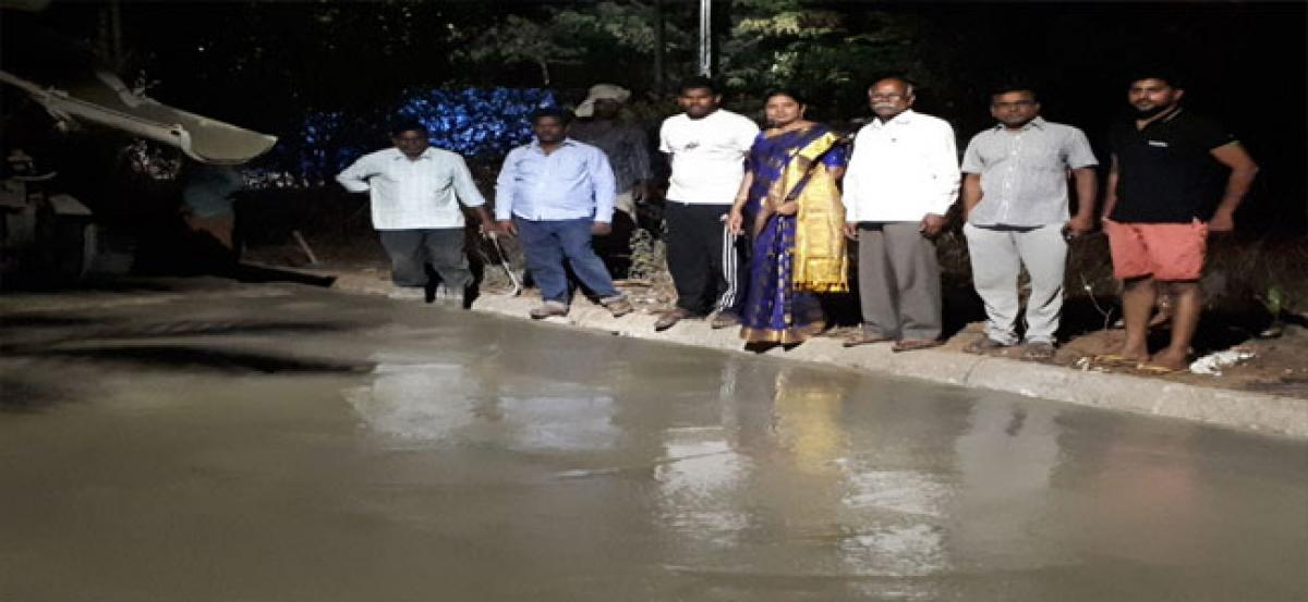 Corporator inspects CC Road work