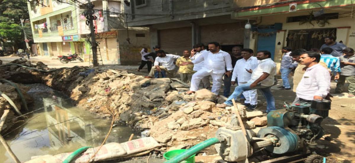 `24 lakh sanctioned for nala works