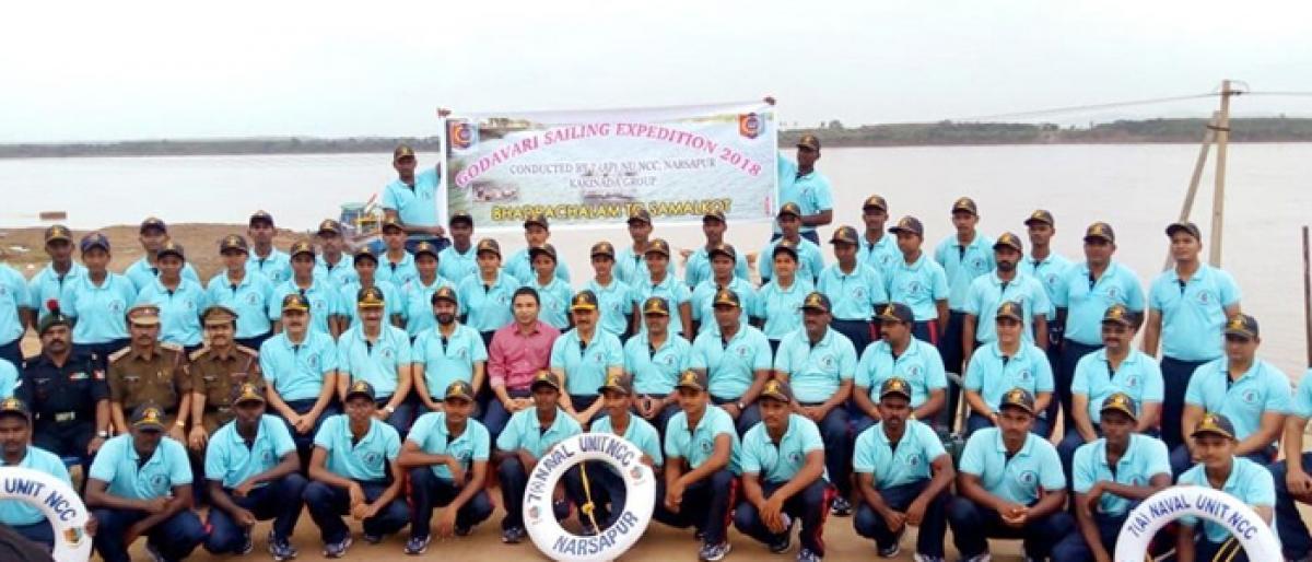NCC cadets embark onGodavari River sailing expedition