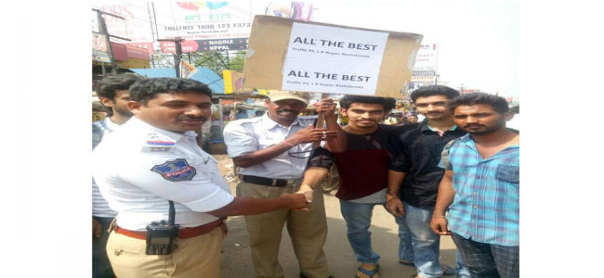 Traffic CI's best wishes to NEET candidate