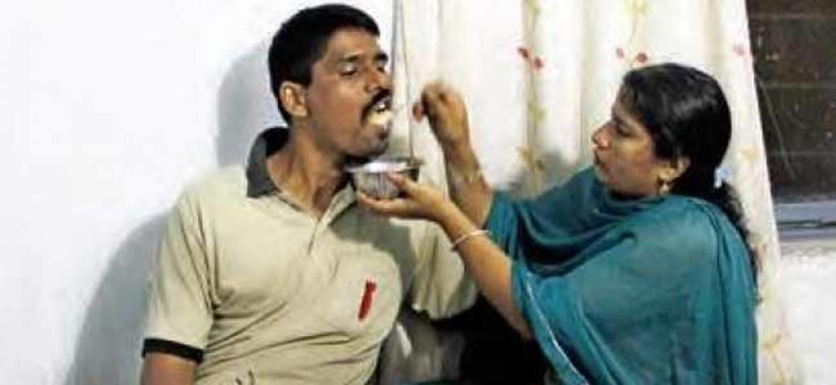 Telangana Government gives Helping Hand to Crippled Commando