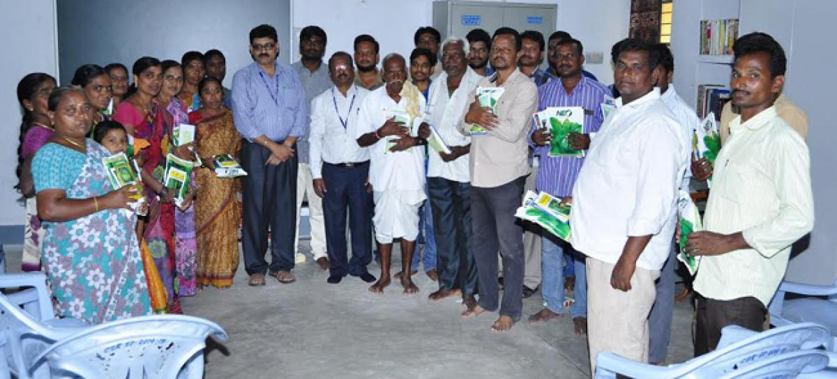 NTPC distributes seeds to farmers under Corporate Social Responsibility in Ramagundam
