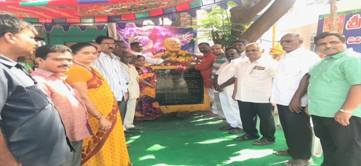 BJP leader pays tributes to NTR