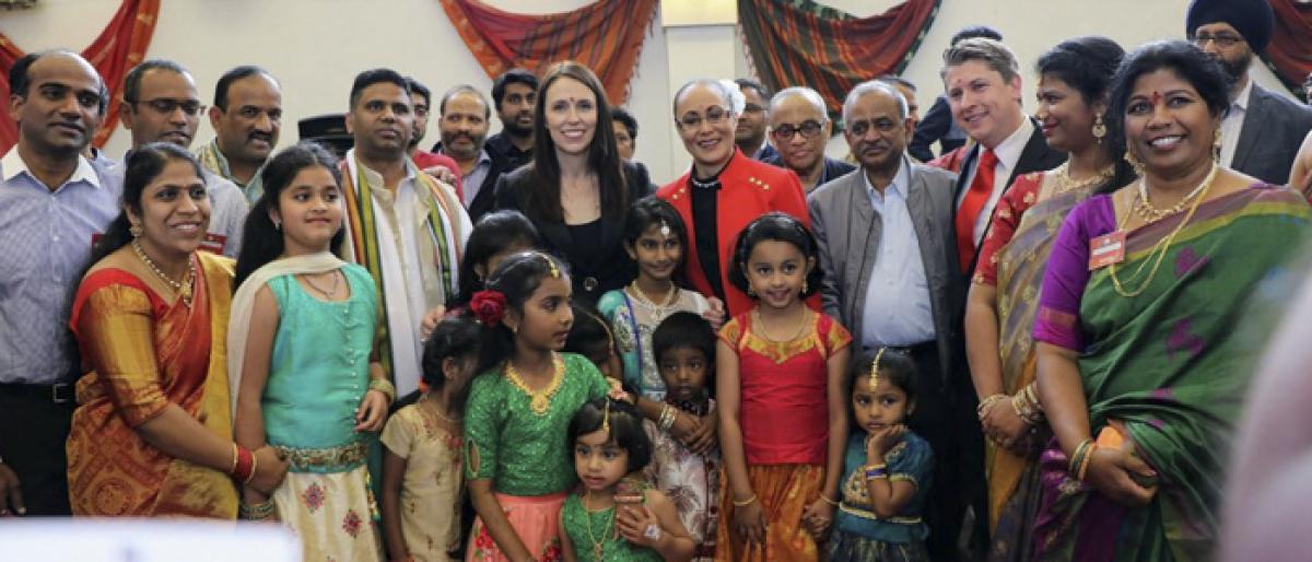 New Zealand PM Jacinda Ardern takes part in Bathukamma celebrations