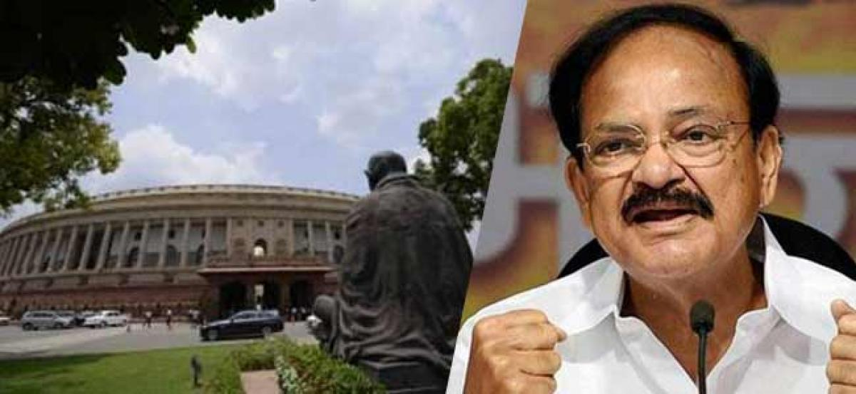 Naidu fails to resolve Andhra special status issue, RS adjourned till 2 p.m.