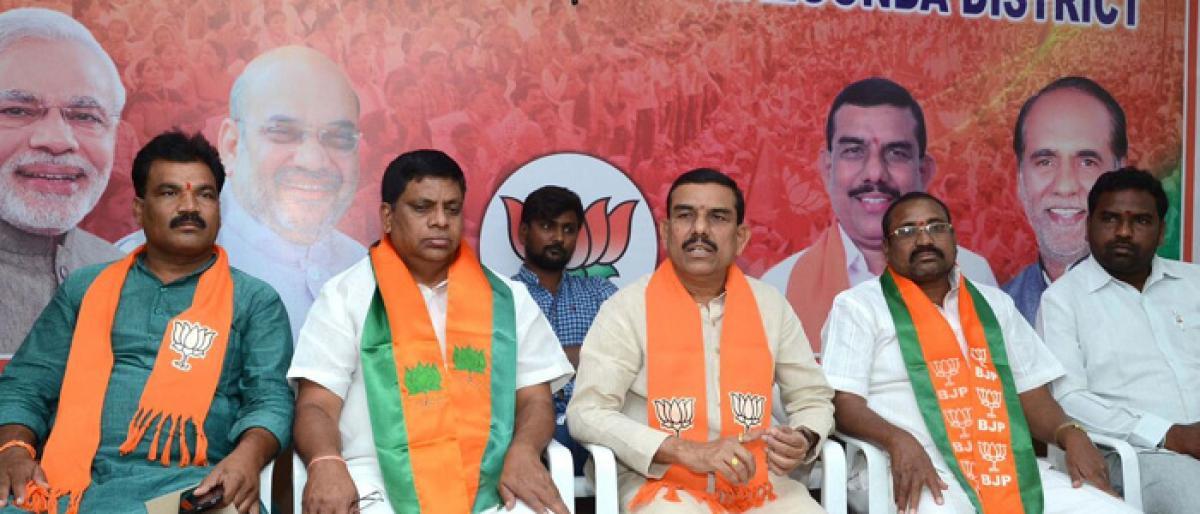 BJP dist unit to conduct Dalit  Adalat in Nakrekal constituency