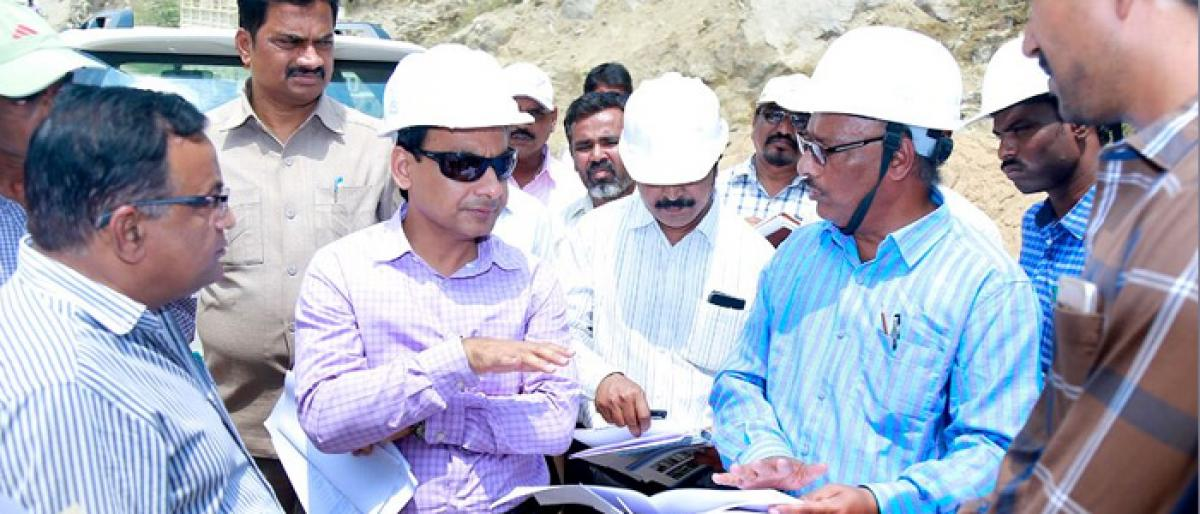 Nalgonda district Collector inspects Brahmana Vellemla project