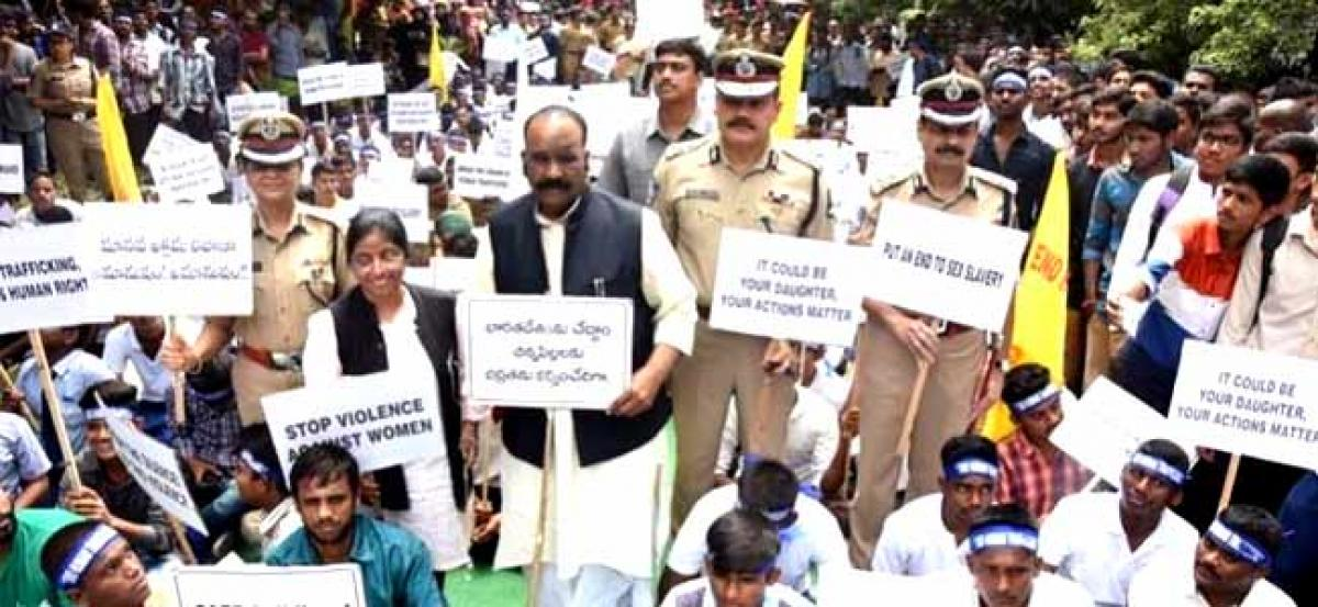 Rally against human trafficking kicks off, TS Govt promises stringent action