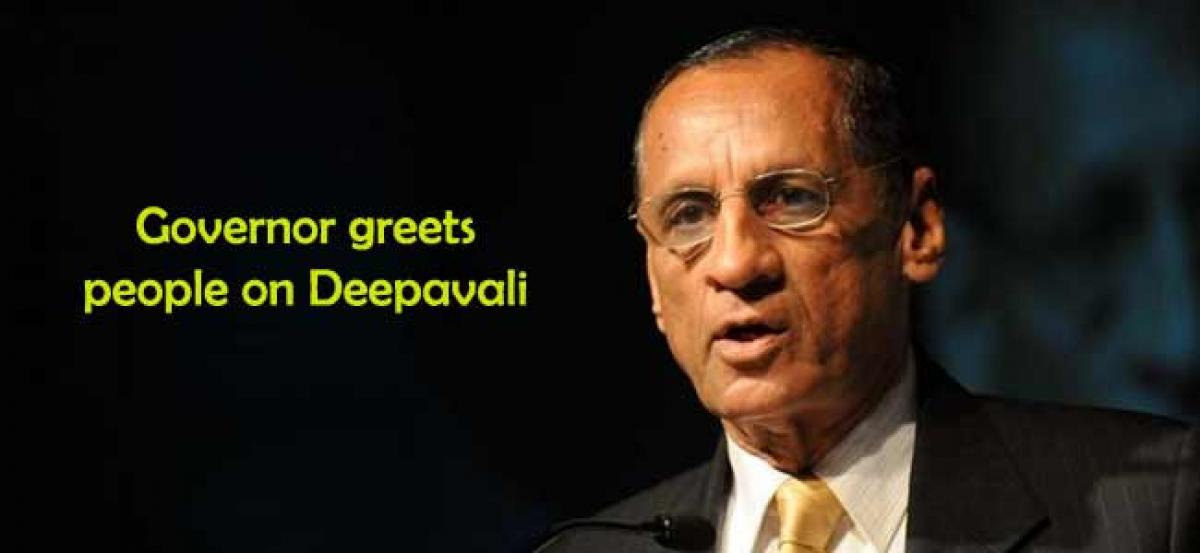Governor greets people on Deepavali