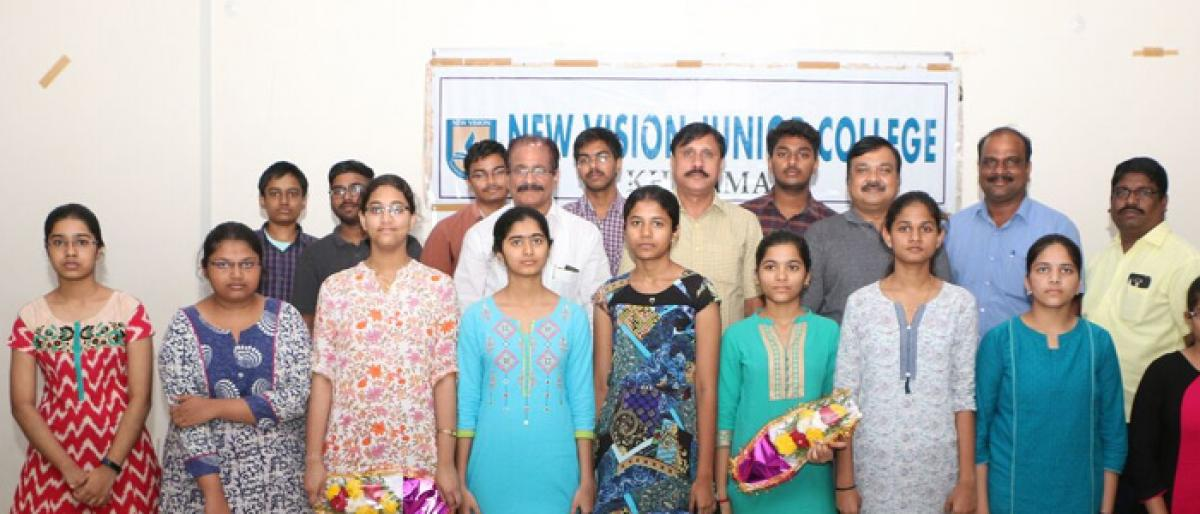 50 New Vision students get EAMCET ranks below 5000