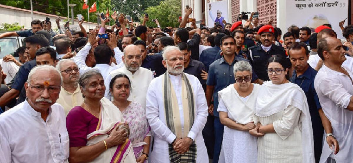 Vajpayee laid to rest, daughter Namita lights funeral pyre