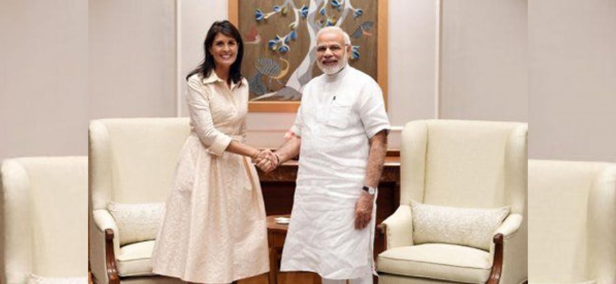 US envoy Nikki Haley tells PM Modi important to cut Iranian oil use