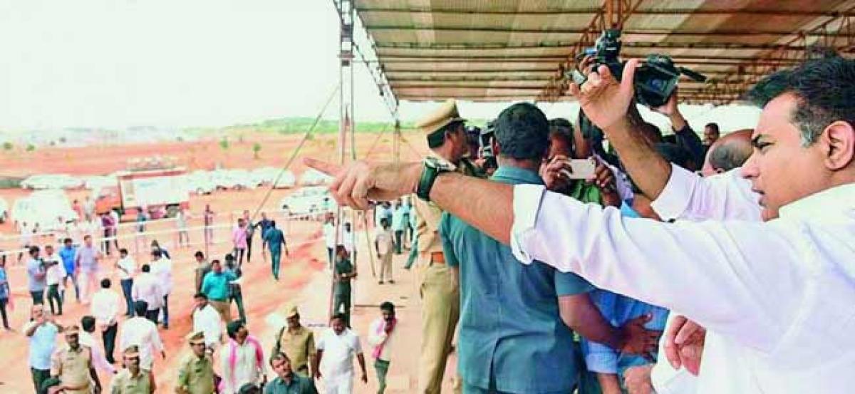 Preparations at brisk pace for Pragati Nivedana Sabha