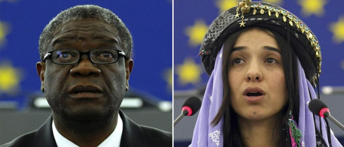 Nobel Peace Prize honours fight against sexual violence