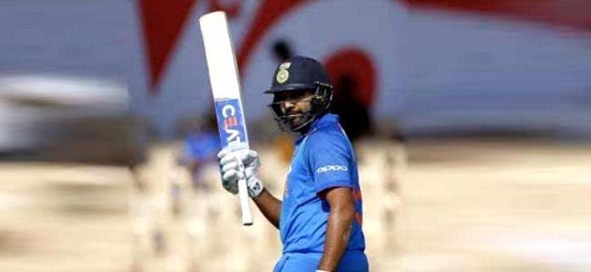 4th ODI:  Rohit, Rayudu help India post a daunting 377/5