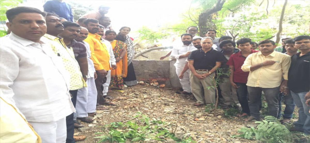 Old well renovation works launched