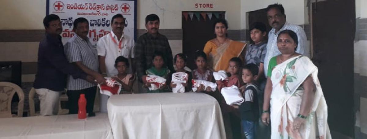 Red Cross brings smile to orphans on Diwali