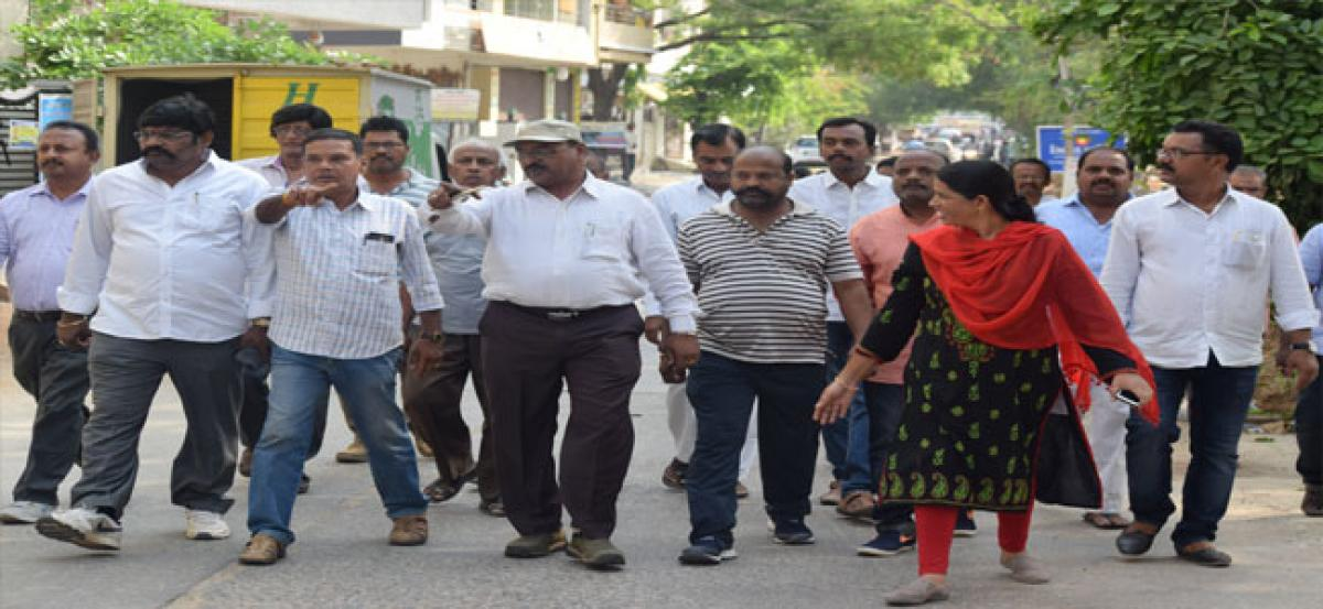 Corporator Ramavath Padma concerns on sewerage problems