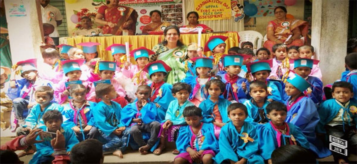 Anganwadi graduation day celebrations held