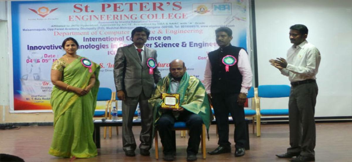 St. Peter's Engg College hosts 2-day intl seminar