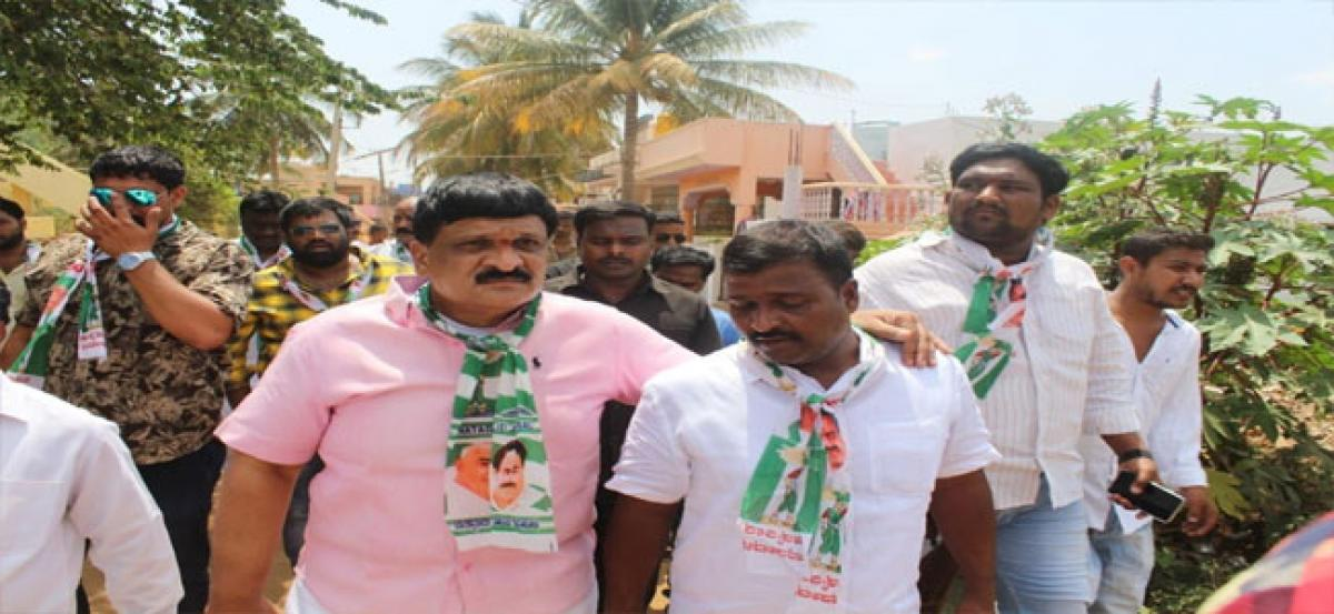 TRS party members campaign for JDS