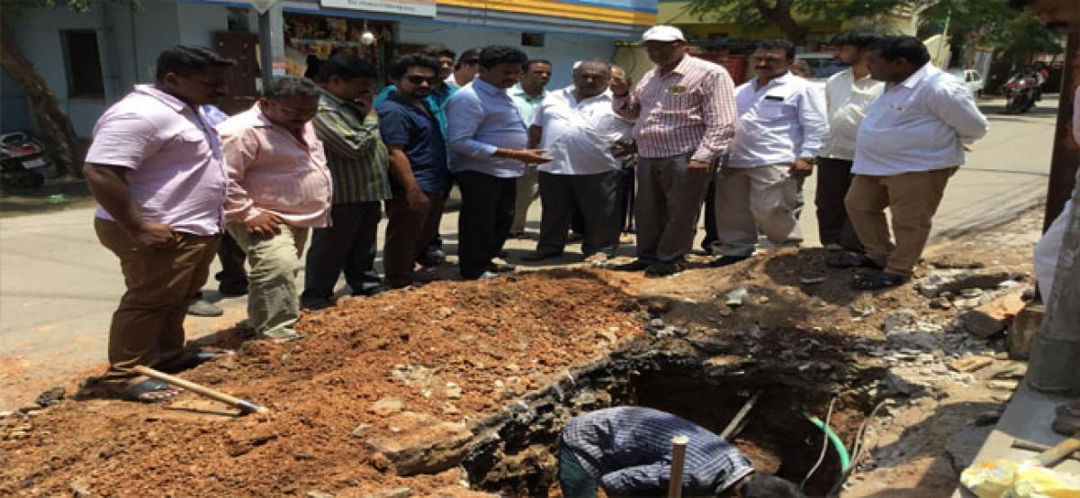 Corporator swiftly responds to pipeline problem