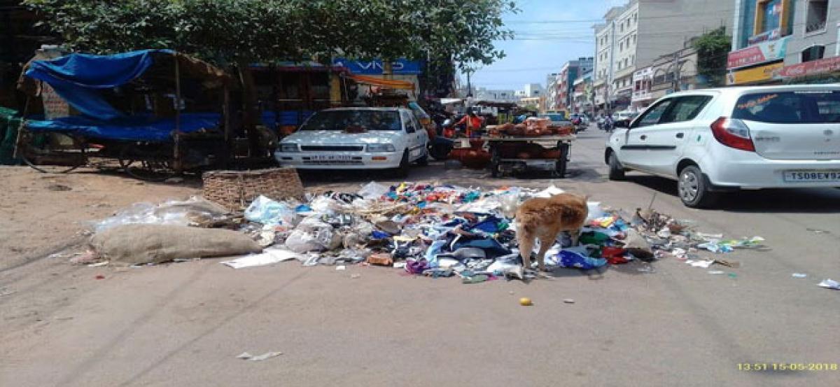 Madhapur's Ayyapa Society littered with garbage