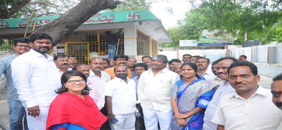 Lalapet Pochamma temple gets new entrance