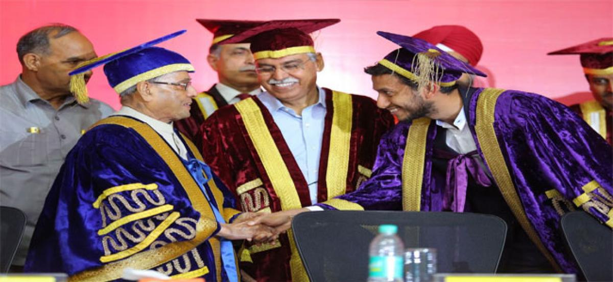 Inspire others, don't wait to be inspired, advises former Former President Pranab Mukherjee