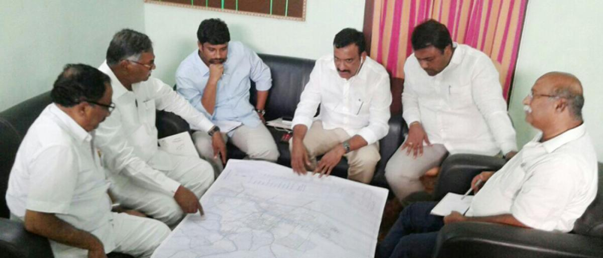 Measures to beautify Peddapalli in plans