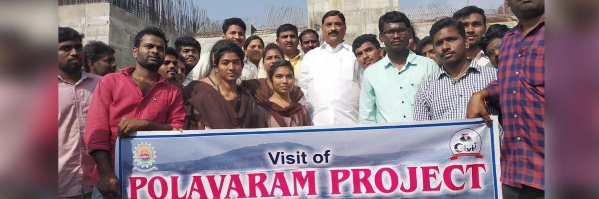 CRR college students visit Polavaram
