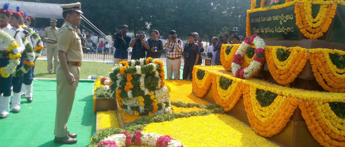 National Police Commemoration day held in Hyderabad