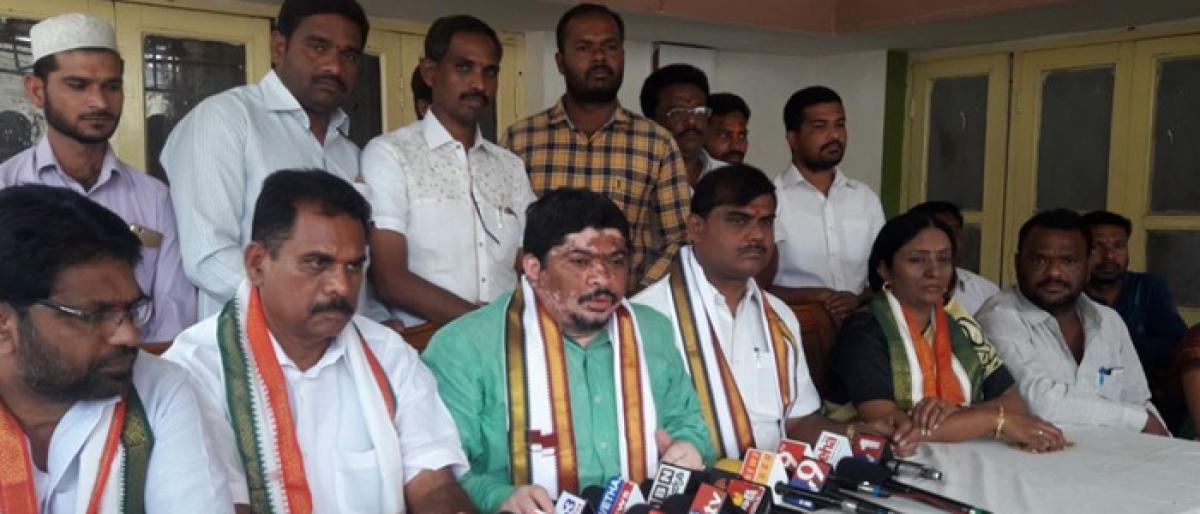 TRS aiding BJP to escape no-trust motion