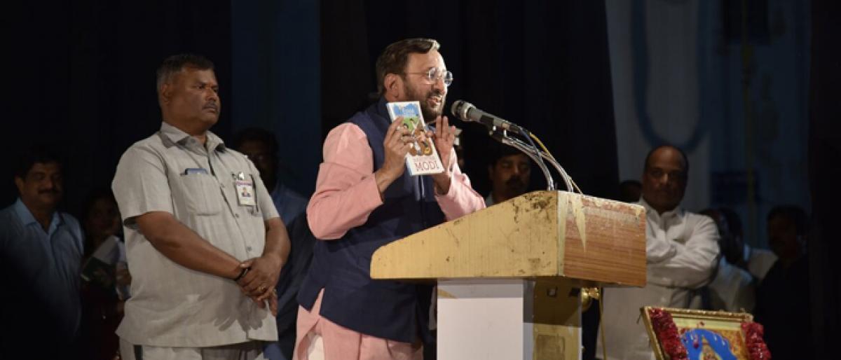 Javadekar chants Modi mantra to beat exam blues