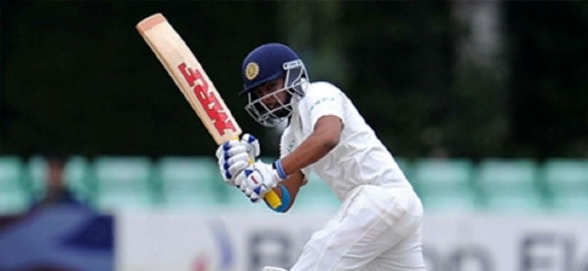 Shaw starts with half-century, youngest Indian to do so on Test debut
