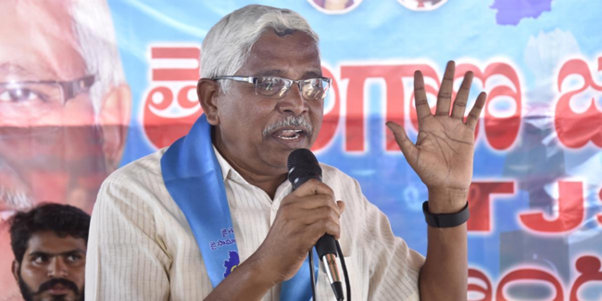 Kodandaram arrested at Bikkanuru tollgate