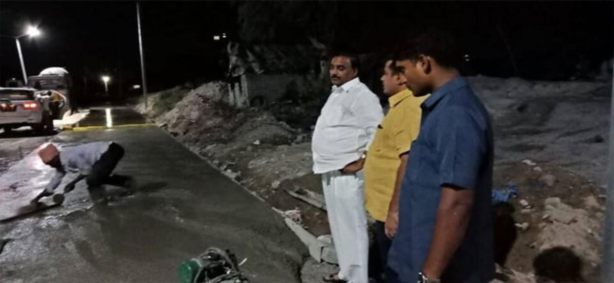 MLA inspects road works