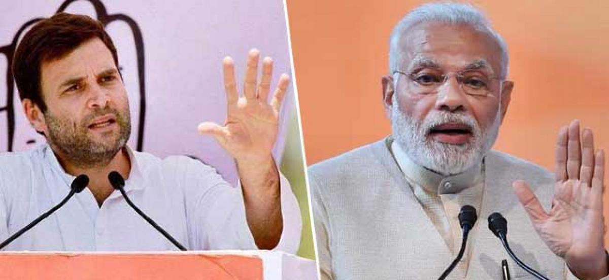 Rahul Gandhi blames PM Modi yet again