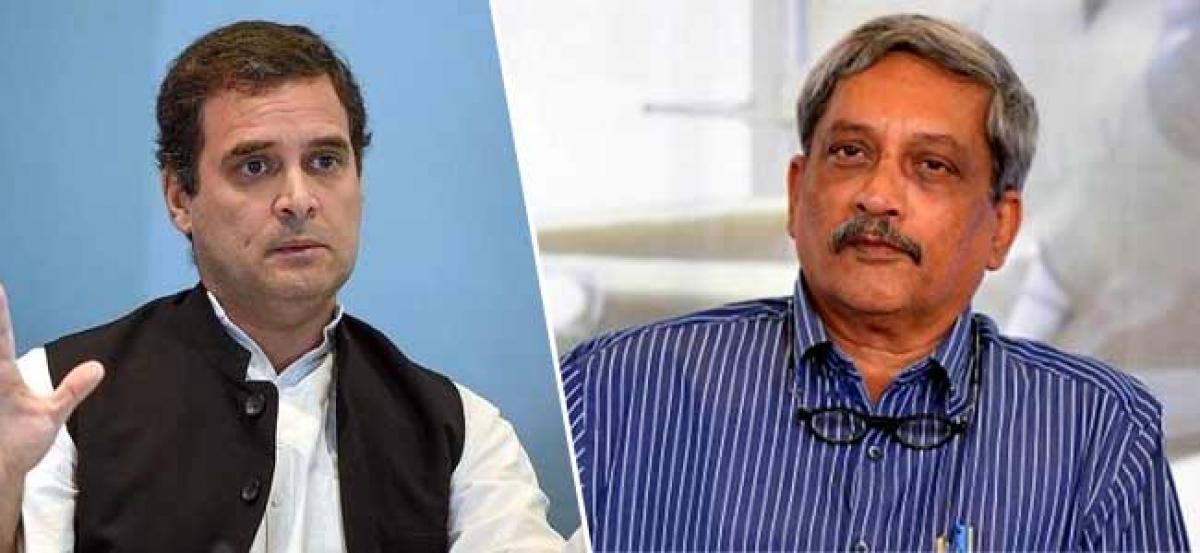 Rahul Gandhi inquires about Manohar Parrikars health