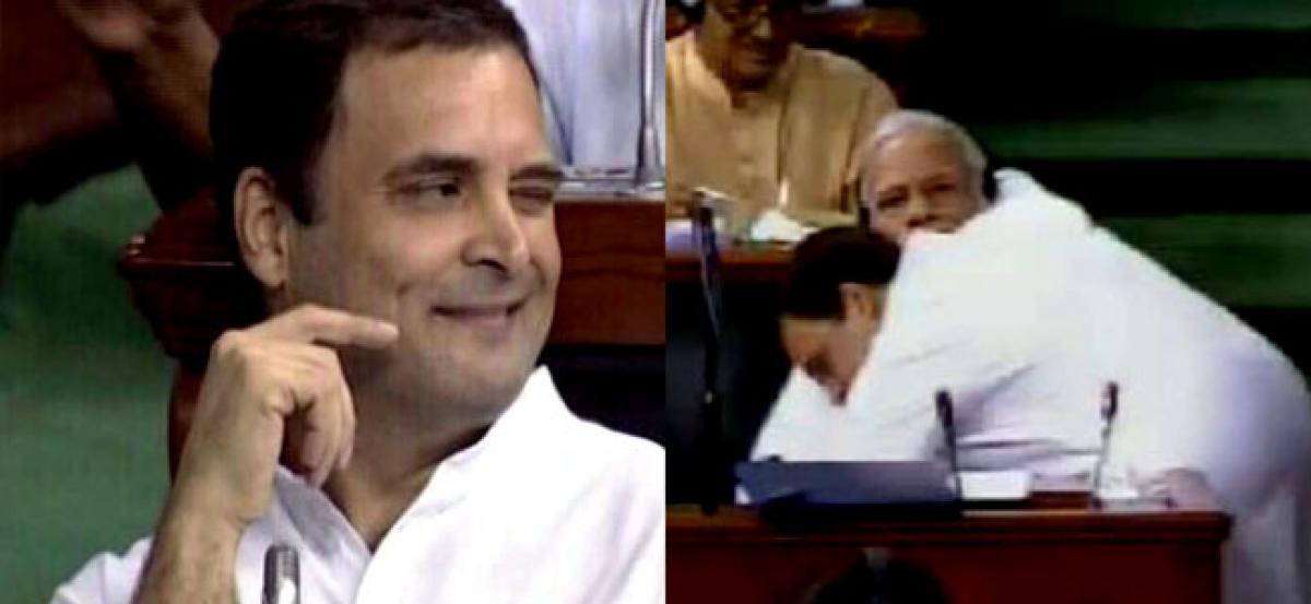 Rahul Gandhi hugs PM Modi after criticising him