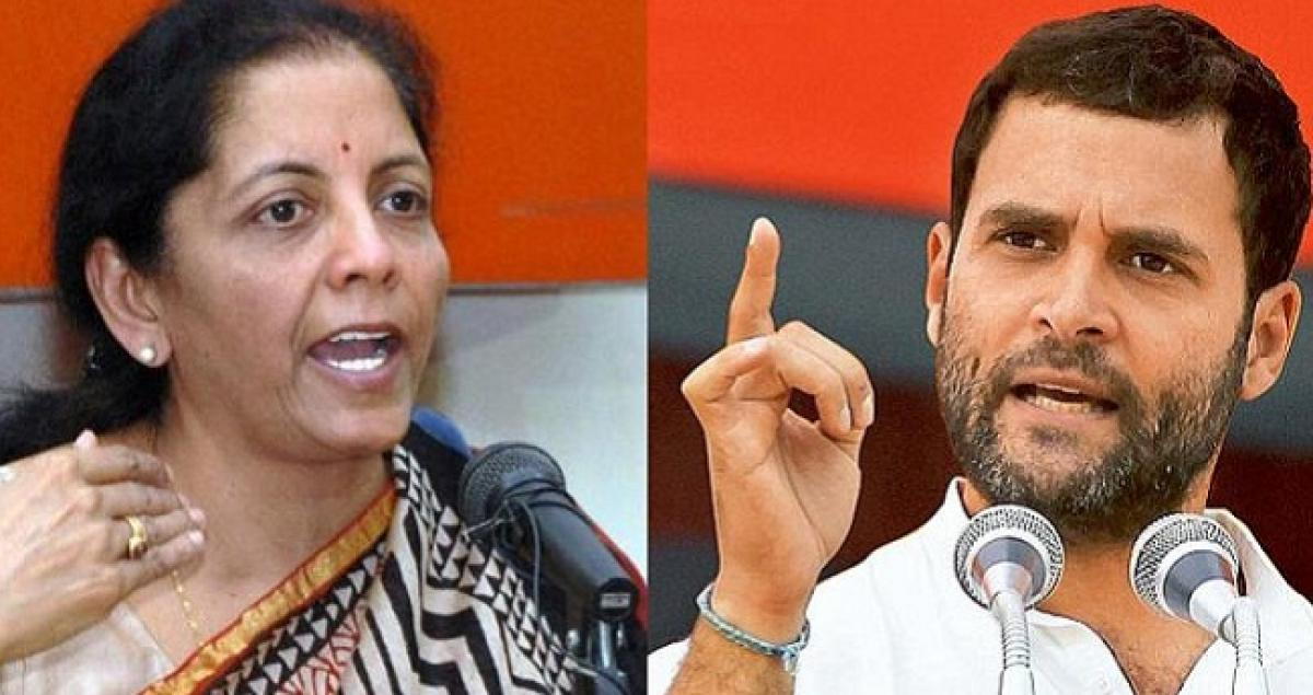 'Rafale Minister caught lying again', must resign: Rahul Gandhi attacks Sitharaman