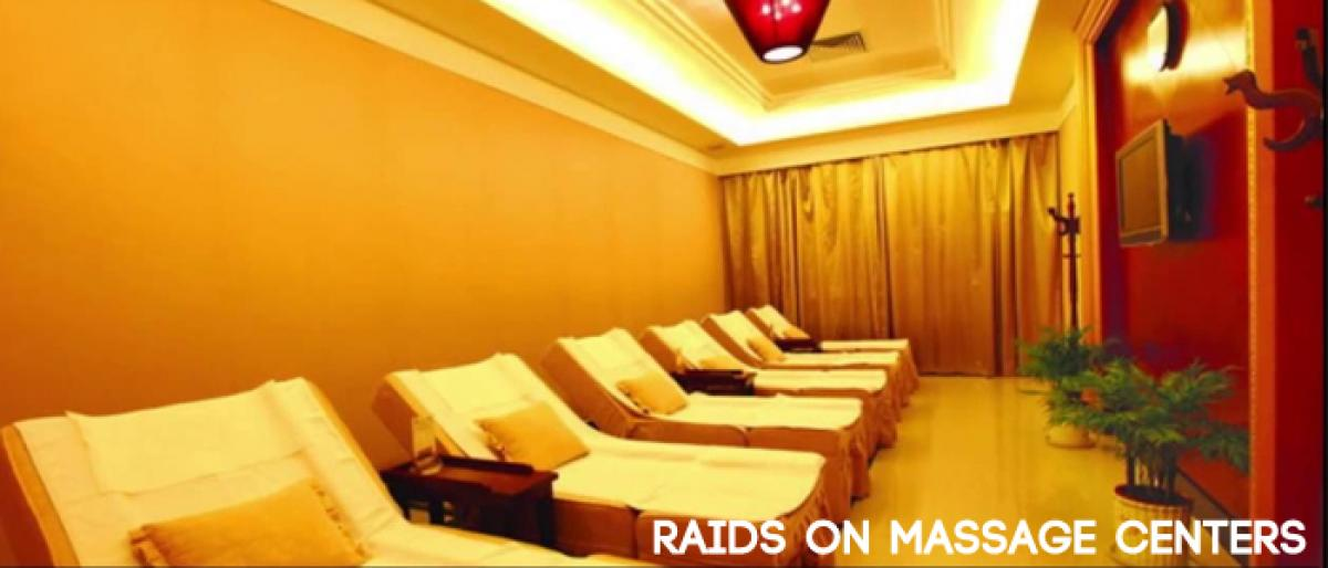 West Zone police raided massage centers, held 20