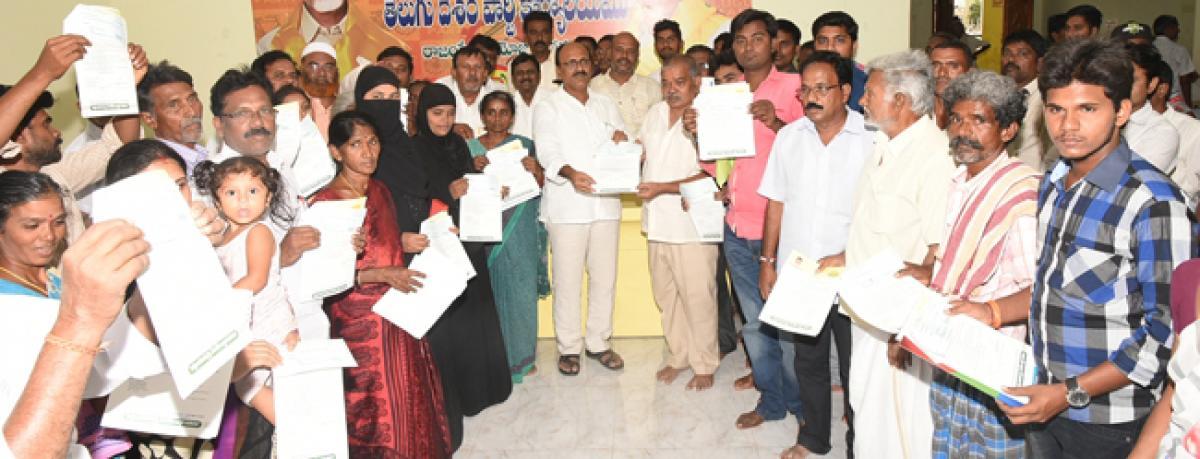 60 cr  for CC roads in Rajampet segment