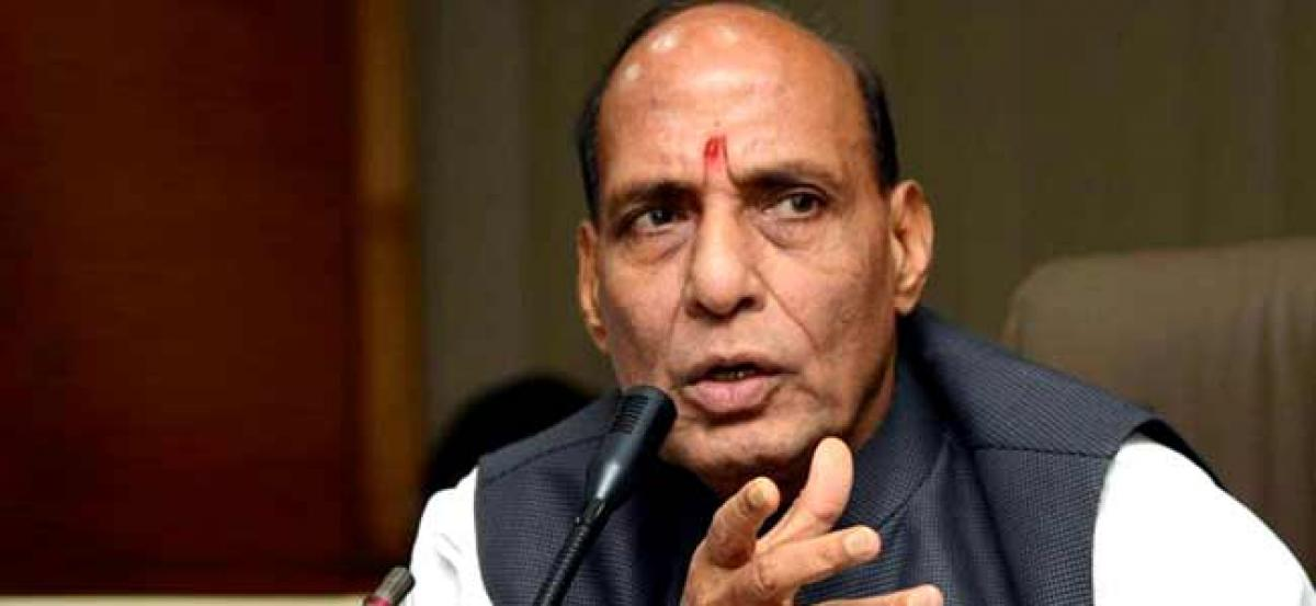 Rajnath takes dig at Congress for ignoring PM Modis role in Gujarat