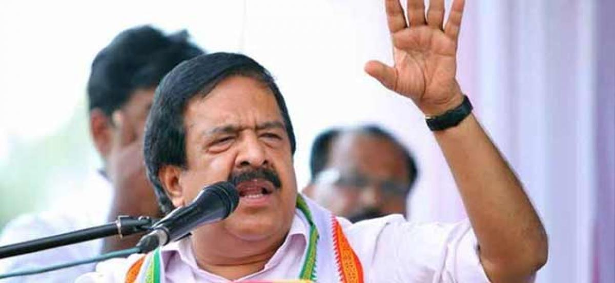 Ramesh Chennithala asks the government to open separate account for Kerala relief funds