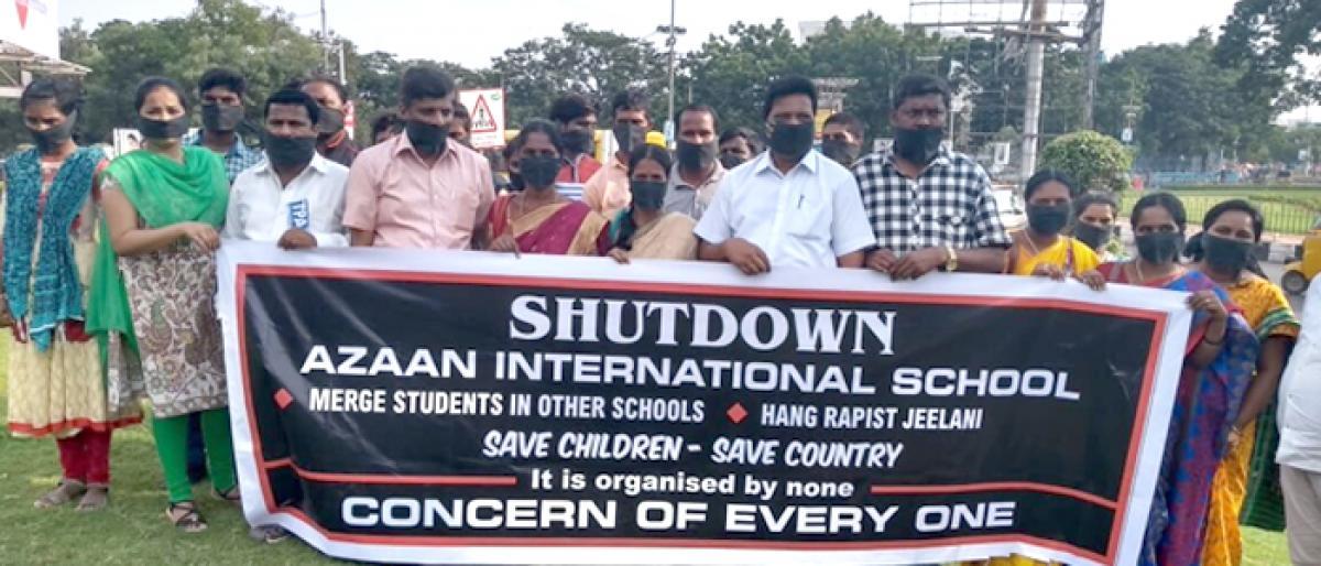 Silent protest against minor's rape