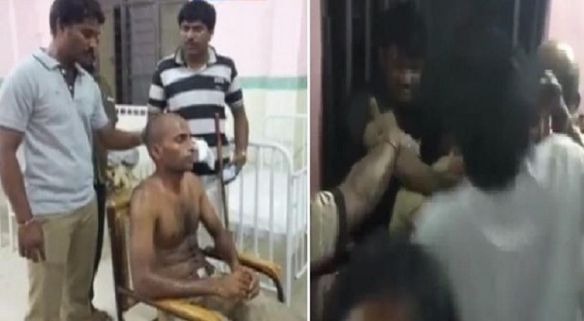Mob attack police personnel at Rapur