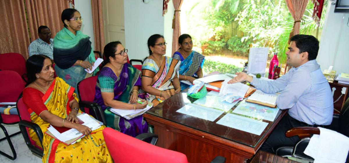 Karimnagar Collector cautions Anganwadi teachers of expired milk packets